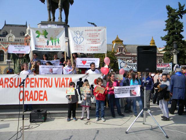 Marsul pentru Viata la Oradea,