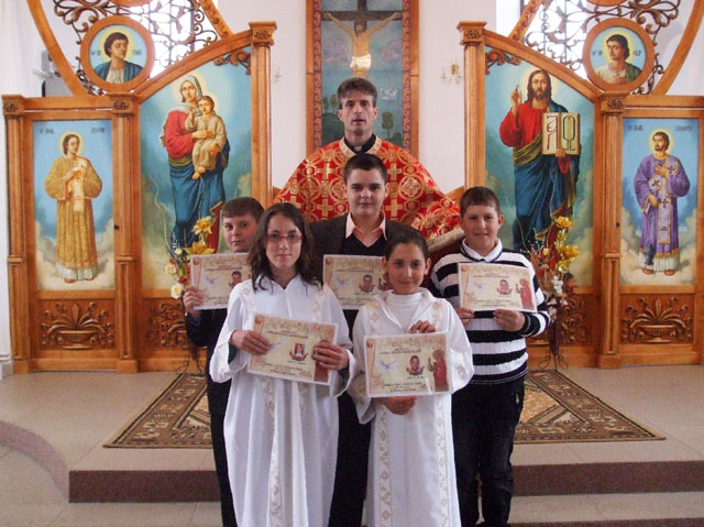 Prima Sfânta Spovada si Împartasanie solemna la Borod,