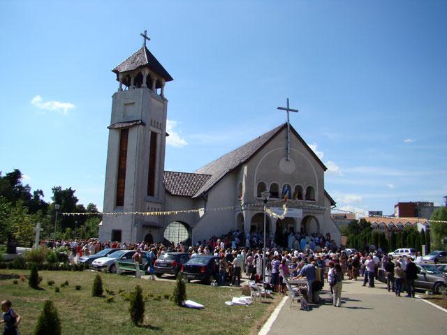 """Hramul Manastirii Franciscane """"Adormirea Maicii Domnului"""" din Oradea,"""