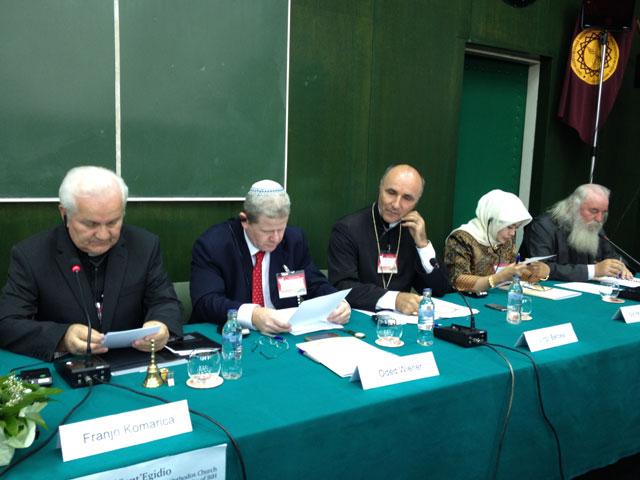 """""""Întâlnirea """"Religii si culturi în dialog"""" de la Sarajevo, Bosnia si Hertegovina"""","""