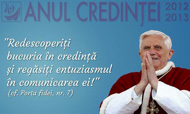 """Comunicat de presa CER: Deschiderea """"Anului Credintei"""" la Vatican si în România,"""