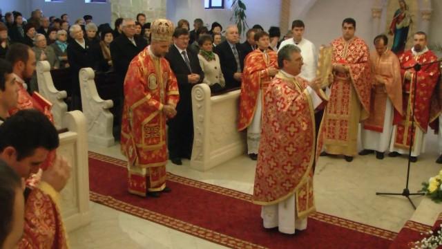 """Hramul Bisericii greco-catolice """"Sfântul Andrei"""" din Carei,"""