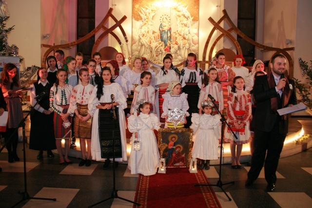 Concert de colinde organizat de Radio Maria România la Manastirea franciscana din Oradea,