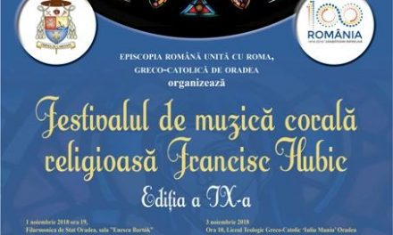 "Invitatie: Festivalul de muzica corala religioasa ""Francisc Hubic"","